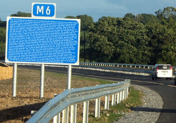 M6 sign wordy