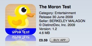 App - Moron test