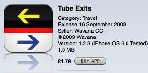 App - Tube exits