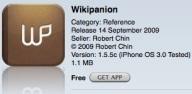 App - Wikipanion