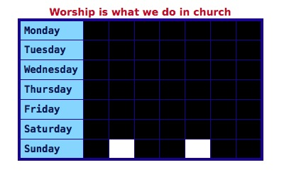 Worship 1 - church only