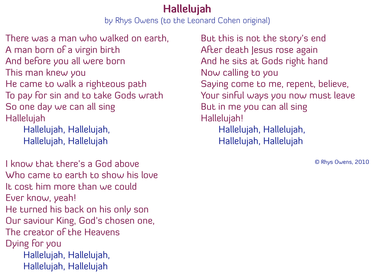 Christmas Hallelujah Lyrics