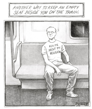 Newyorker 2011 - Religion trainseat
