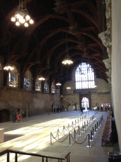 Westminster hall sunlight