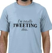 tweeting t shirt