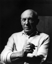 Portrait of Picasso by Lucien Clergue