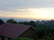 Dawn view from just above our house, looking out towards Lake Victoria
