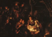 Rembrandt - Adoration Shepherds