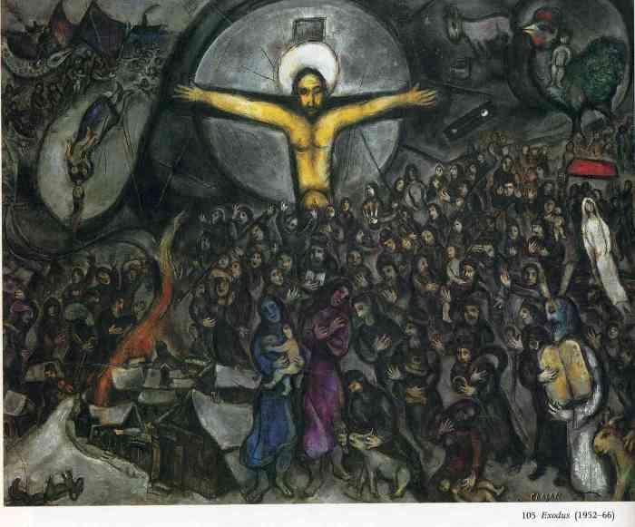 Marc Chagall: THE EXODUS (1966)