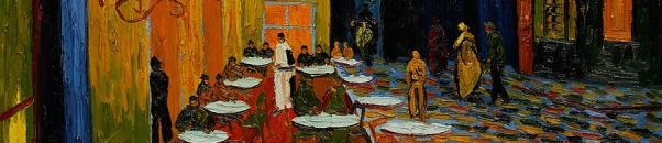 van Gogh - Cafe banner